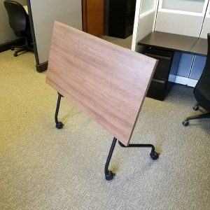 Used Walnut Flip Top Training Tables - Nesting