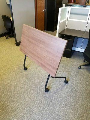 Used Walnut Flip Top Training Tables - Nesting