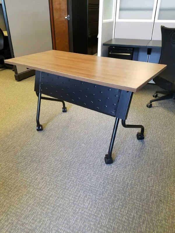 Walnut Flip Top Training Tables - Nesting