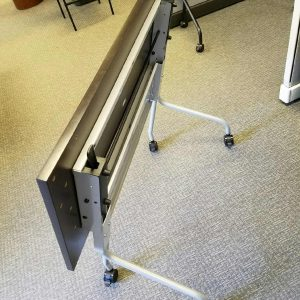 Espresso Flip Top Training Tables - Nesting