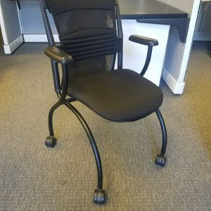 used black Izzy Tess office chairs