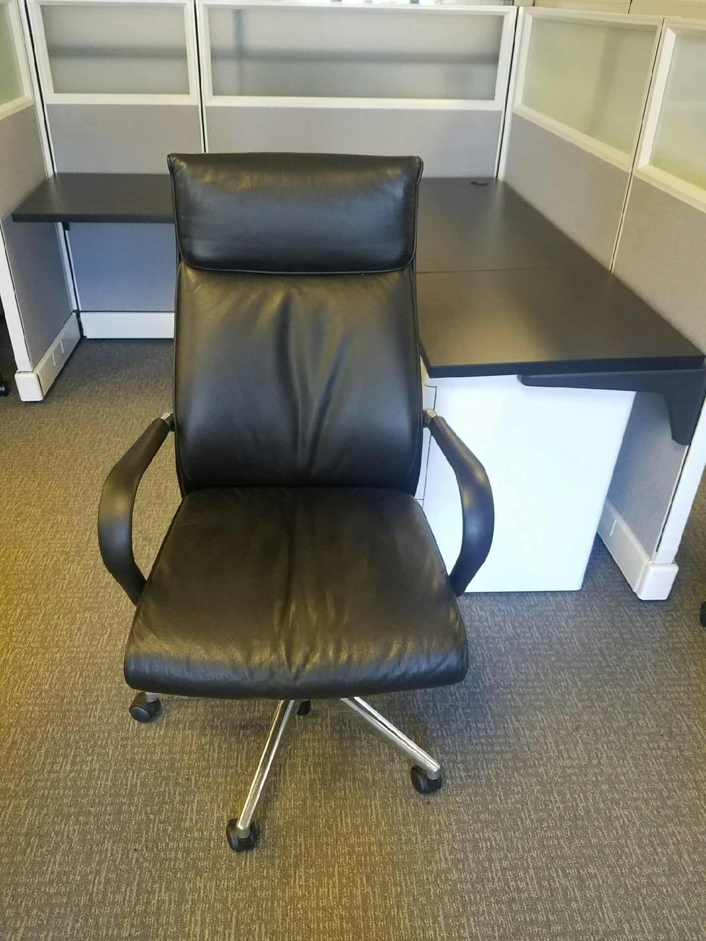 Terrific Used Black High Back Leather Chairs For Sale Now Bralicious Painted Fabric Chair Ideas Braliciousco