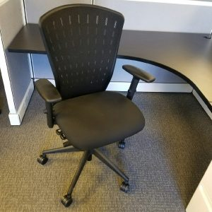 Used Black Mesh Izzy Multi-Function Office Chairs