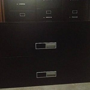 """Secondhand Schwab FireGuard 42"""" Wide 2 Drawer Fireproof Lateral Files"""