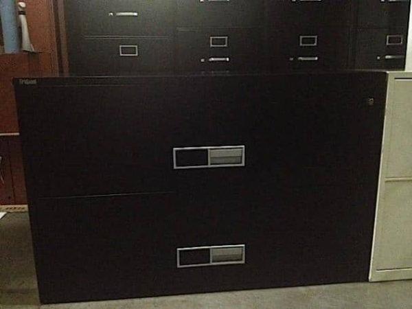 "Schwab FireGuard 2 Drawer Fireproof Lateral File Cabinet 42"" Wide"