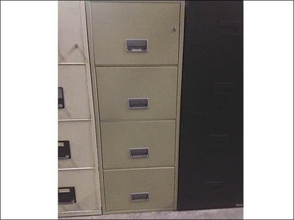 Used Schwab Fireproof 4 Drawer Vertical File Cabinets