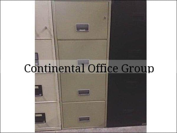 Used Schwab Fireproof 4 Drawer Vertical File Cabinets