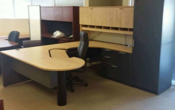 Used Steelcase Turnstone Payback Maple Desks