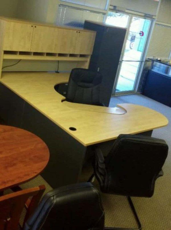 Used Steelcase Turnstone Payback Maple Desks