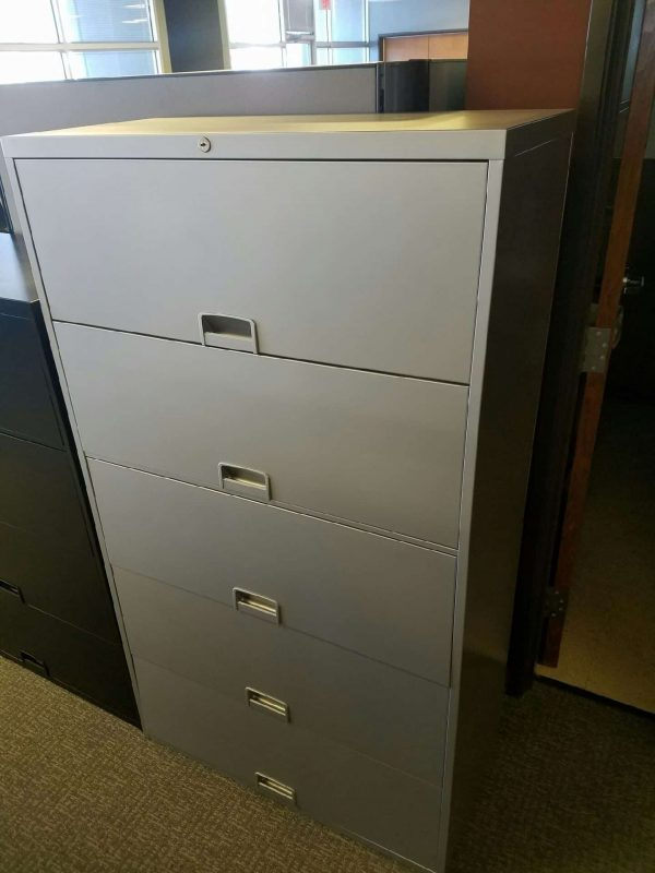 Used Secondhand Steelcase 5 drawer lateral file cabinets
