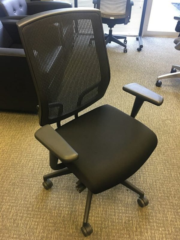 Sit On It Black on Black Mesh Office Chairs