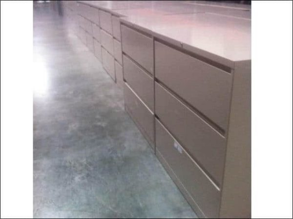 Used Steelcase 3 Drawer 36 inch 900 Series Lateral File Cabinets