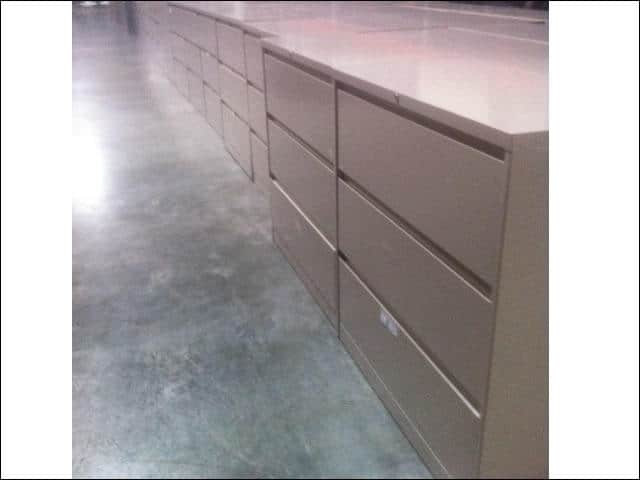 steelcase 3 drawer 36 inch 900 series lateral file cabinets used