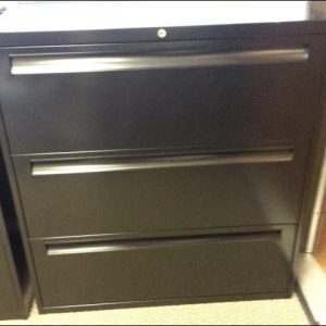 Used Steelcase 3 Drawer 36 inch Lateral Filing Cabinets
