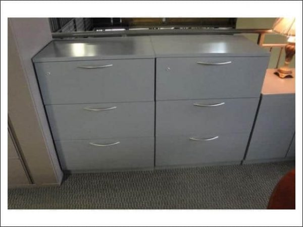 """Used Steelcase Gray 3 drawer 36"""" wide file cabinets"""