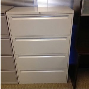 Used Steelcase 4 Drawer 36″ wide Lateral File Cabinets