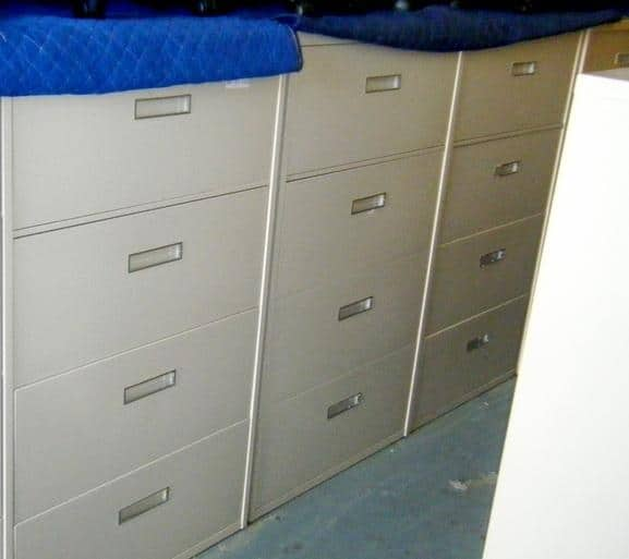 Preowned Steelcase 800 Series 4 Drawer 36″ Wide File Cabinets