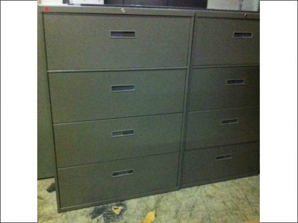 Secondhand Steelcase 4 Drawer 36″ Wide Lateral File Cabinets