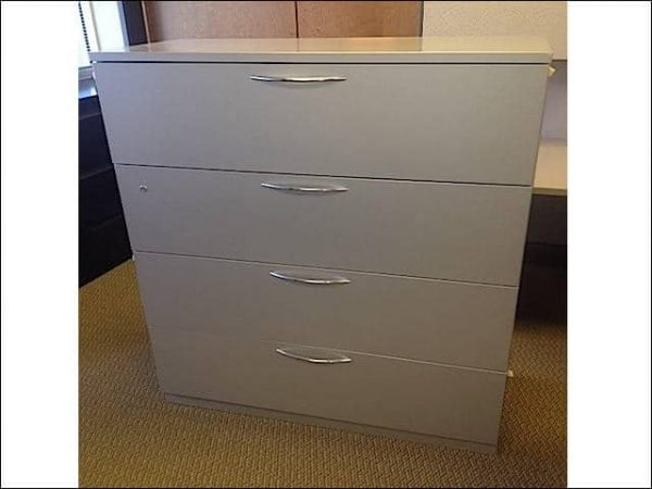 Used Steelcase 4 Drawer 42″ Lateral File Cabinets