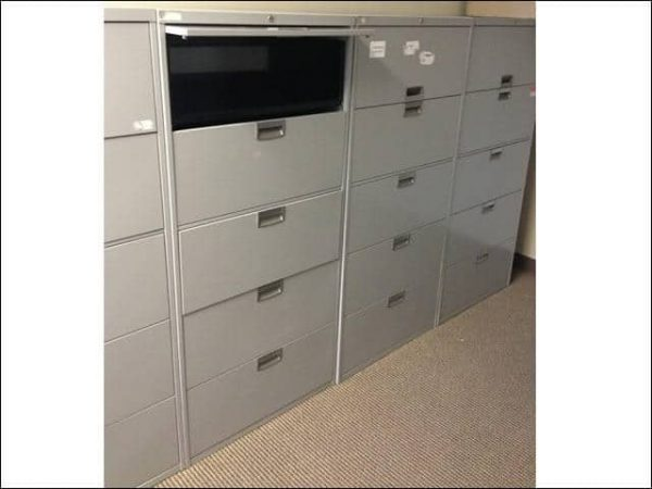 Used Steelcase 5 Drawer 30″ Wide Lateral Files