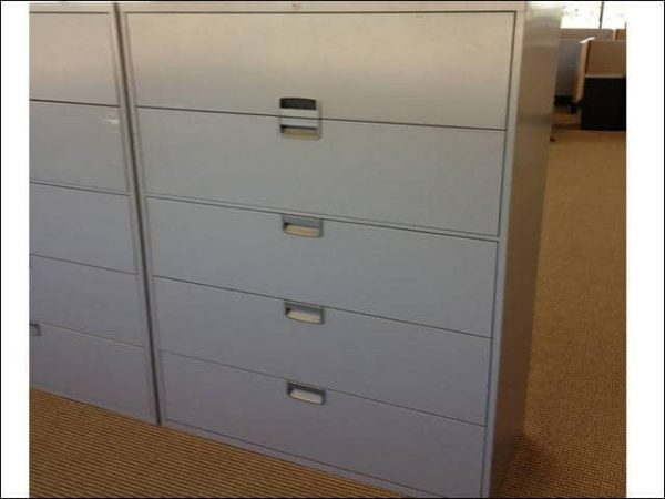Used Steelcase 5 Drawer 42″ Wide Lateral Files