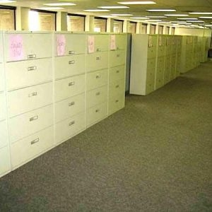 Used Steelcase 800 Series 5 Drawer 36in Cream