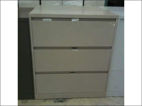 """Used Steelcase 900 Series 3 drawer 36"""" Wide Lateral File Cabinets"""