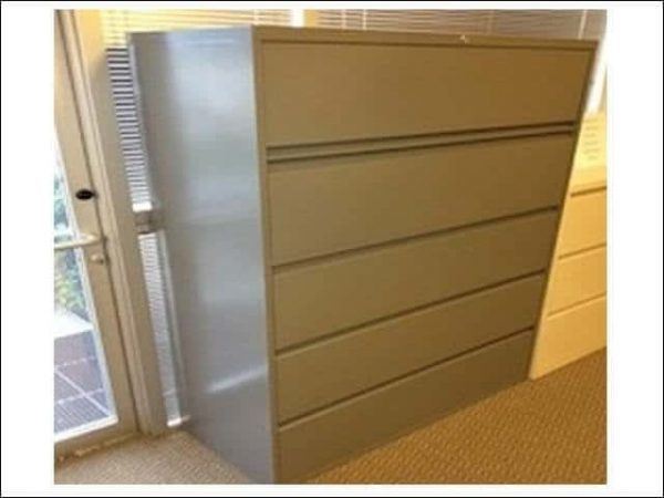 Used Steelcase 900 Series 5 Drawer Lateral File Cabinets
