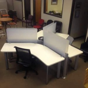 Used Steelcase Answer 3 pod Workstations