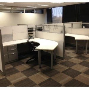 Used Steelcase Answer Cubicles with Glass