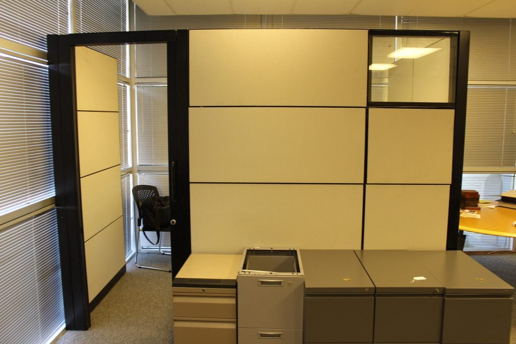 Used Steelcase Montage Cubicles W Sliding Door For Sale