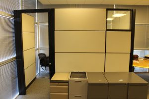 used Steelcase Montage Cubicles with Sliding Door