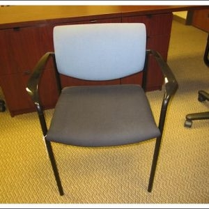 Used Steelcase Player Chairs W/ Black Seat Blue Back