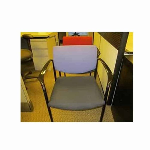 Used Steelcase Player Chairs W/ Black Seat Purple Back