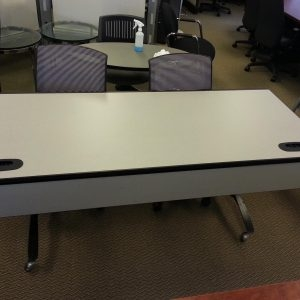 Used Steelcase Training Tables With Casters and folding legs