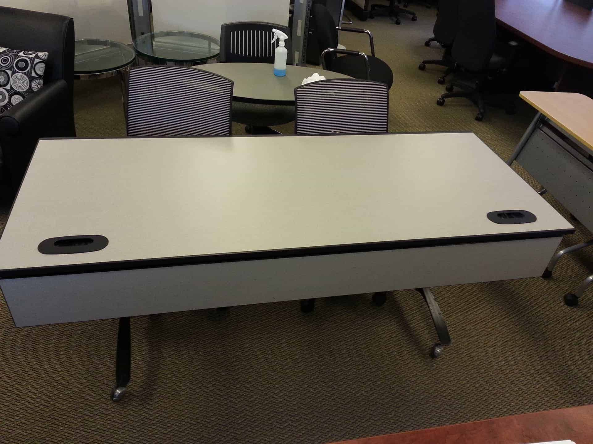 Used Steelcase Training Tables Casters Folding Legs