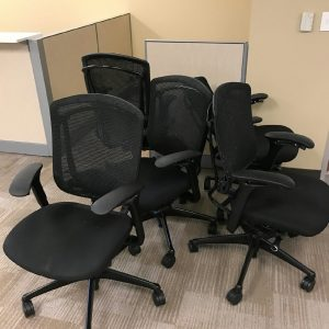 used Teknion Contessa Mesh Back Office Chairs