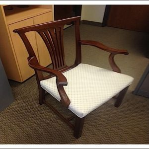 Used Traditional Wood Side Chairs with Mahogany Frame