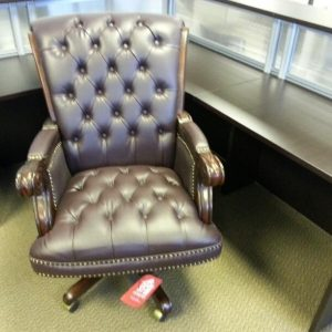 used Traditional Leather-Like Vinyl Executive Chairs