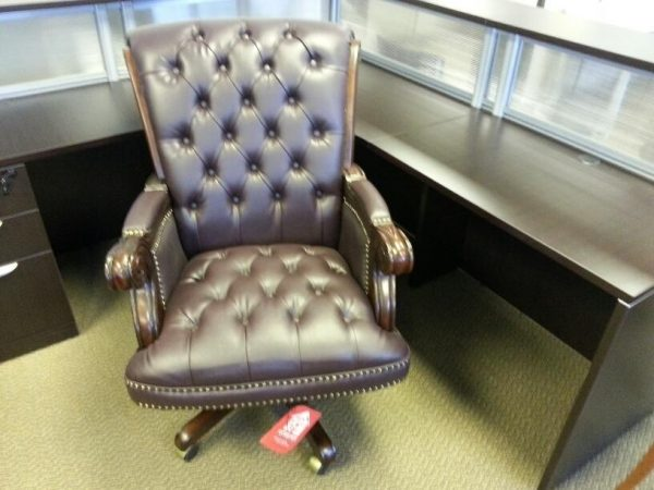 Used Traditional Leather Office Chair