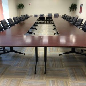 "Used Kimball 31""x10' Conference Table"