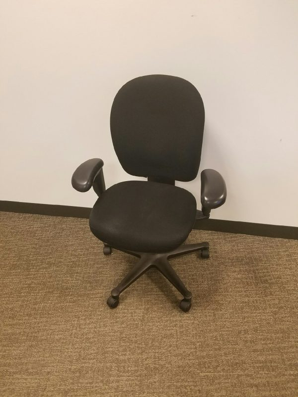 Used Black Fabric Black Frame Herman Miller Ambi chairs