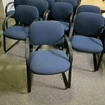 Hon Guest Chairs w/Dark Blue Fabric