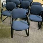 Hon Guest Chairs w/Dark Blue Fabric