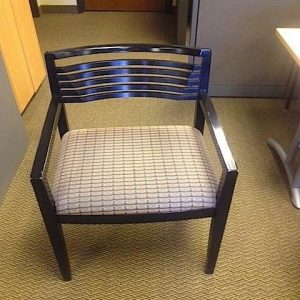 Used Knoll Riccho Wood Side Chair W/ Espresso Frame