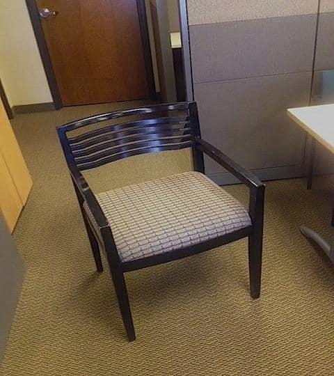 Used Knoll Riccho Wood Side Chair W/ Espresso Frame