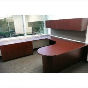 Used Magna L Shape Desk Overhead Optional