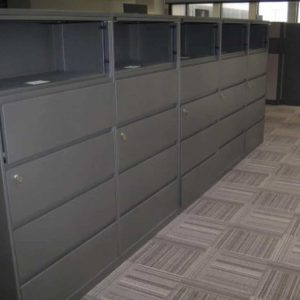 "Used Steelcase 5 Drawer 36"" Wide Lateral File Cabinets"