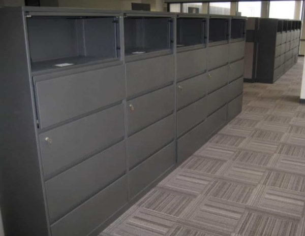 """Used Steelcase 5 Drawer 36"""" Wide Lateral File Cabinets"""