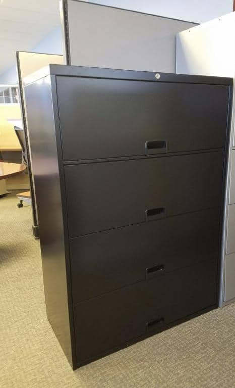 Used Steelcase lateral file cabinets 36in wide with 4 drawers
